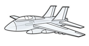 Retro Plane Vector