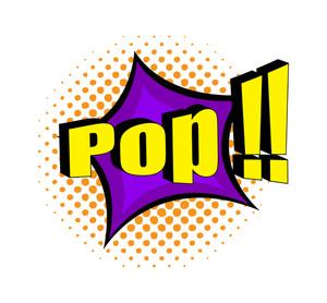 Retro Pop Text Banner Design