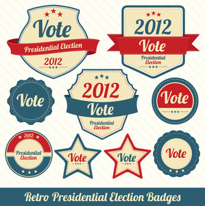 Retro Presidential Election Badges