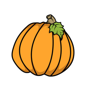 Retro Pumpkin Vector