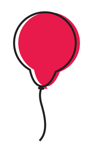 Retro Red Balloon