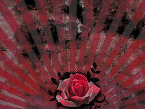 Retro Rose Background