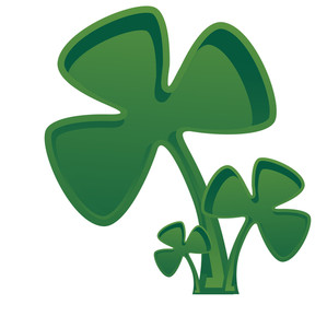 Retro Shamrock Leaves