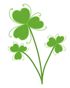 Retro Shamrock Vector Illustration