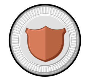 Retro Shield Silver Coin