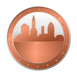 Retro Skyline Coin