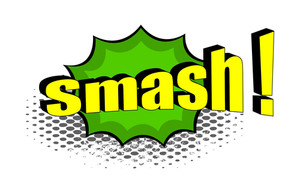 Retro Smash Graphic Banner