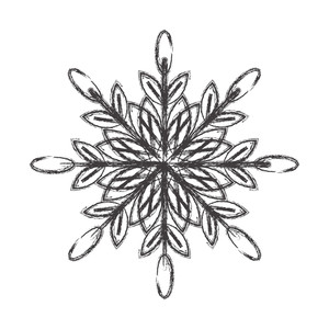 Retro Snowflake Design