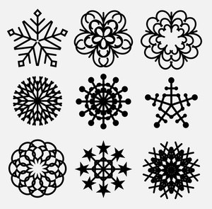 Retro Snowflakes Collection