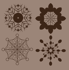 Retro Snowflakes Shapes