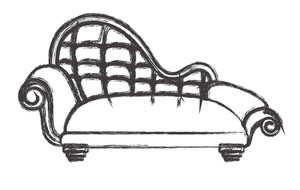 Retro Sofa Design Sketching