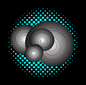 Retro Spiral Design Background