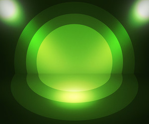 Retro Spotlight Green Background