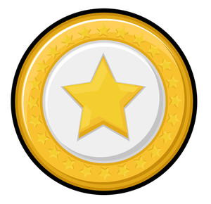 Retro Star Badge