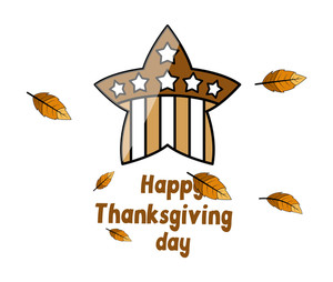 Retro Star Thanks Giving Day Background