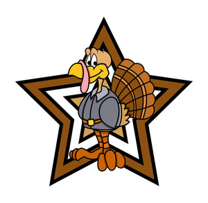 Retro Star Turkey Bird