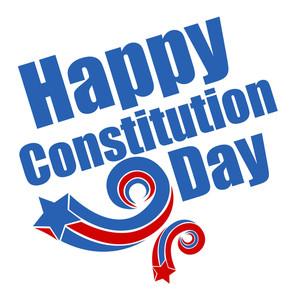 Retro Stars Constitution Day Vector Illustration