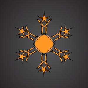 Retro Stars Snowflakes Design