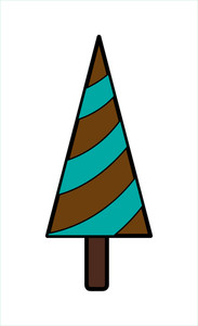 Retro Striped Christmas Tree