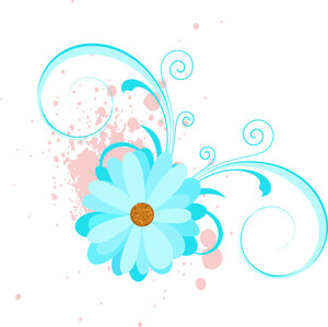 Retro Style Flower Label Decorative Vector Background