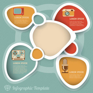 Retro Style Infographic Design Vector Template.