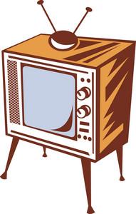Retro Styled Televsion Set