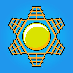 Retro Sun Design Icon