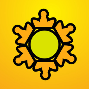 Retro Sun Design Vector Element
