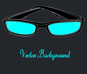 Retro Sunglasses Template Design