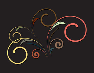 Retro Swirl Flourish Design
