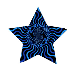 Retro Swirl Lines Star