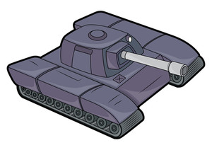Retro Tank Vector