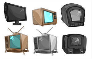 Retro Tv, Radio, And Camera