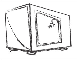 Retro Tv Sketch Design