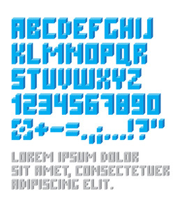 Retro Typeset With Letters And Numbers