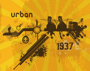 Retro Urban Background Vector Illustration