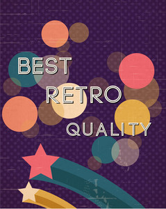 Retro Vector Illustration (editable Text)