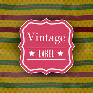 Retro Vintage Grunge Label - Eps Vector Illustration.