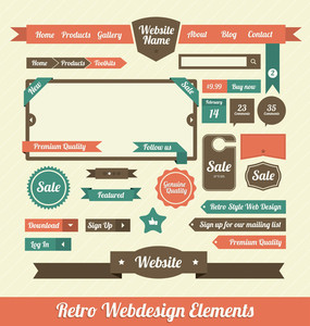 Retro-Web-Design-Elemente