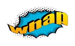 Retro Whap Graphic Text Design