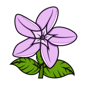 Retro Wild Flower Vector