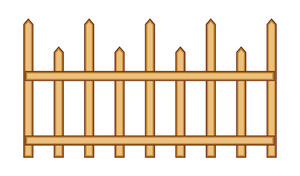 Retro Wooden Fence