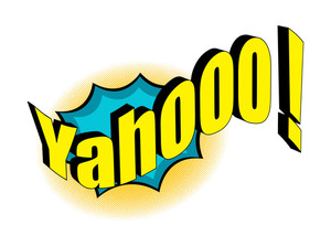 Retro Yahoo Text Banner Design