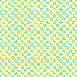 Retro Yellow And Blue Swirl Pattern