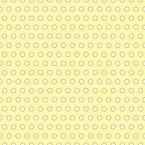 Retro Yellow And White Polka Dots Pattern