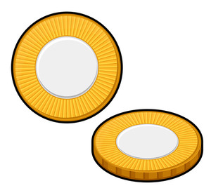 Retro Yellow Coins Design Collection