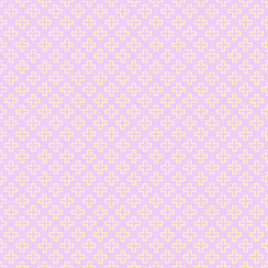 Retro Yellow Cross Pattern On A Purple Background