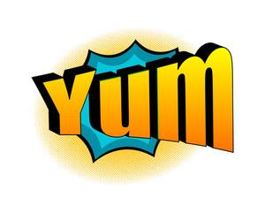 Retro Yum Text Banner