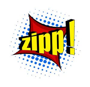 Retro Zipp Text Banner