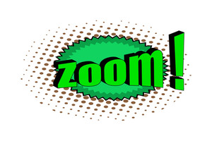 Retro Zoom Text Banner